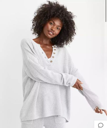 Cozy waffle sweater for fall   #LTKunder50 #LTKSeasonal #LTKstyletip