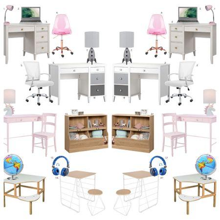 Desks for kids / at home learning / virtual learning / homeschool / http://liketk.it/2TBiJ #liketkit @liketoknow.it #LTKfamily #LTKkids
