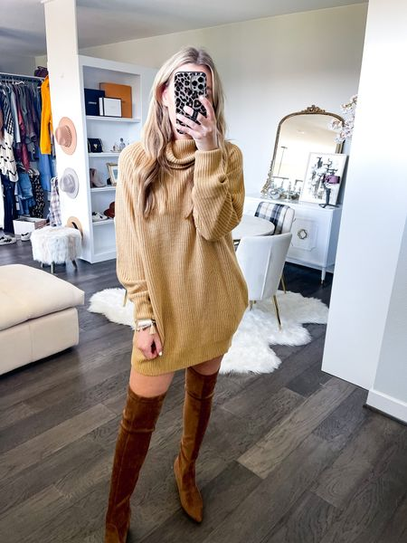 Oversized turtleneck sweater dress! Size small #amazonfashion   #LTKsalealert #LTKunder50 #LTKstyletip