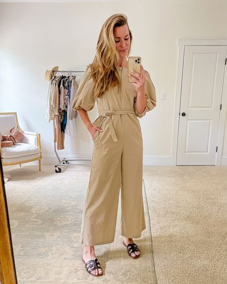 Jumpsuit, jumpsuits for women, dressy jumpsuit, cute jumpsuits, casual jumpsuits  This wide leg jumpsuit can be dressed up or down! A splurge, but trust me—it's beautiful. I took a 4 but could have ordered the 2. Similar tan jumpsuits, long jumpsuits, and summer jumpsuits linked. xo!  #jumpsuit #widelegjumpsuit #cutejumpsuits #casualjumpsuits #tanjumpsuit #summerjumpsuit #summerjumpsuits #longjumpsuits