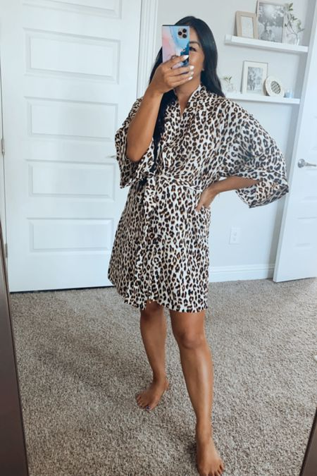 Robes are life! Love this lightweight  leopard print one