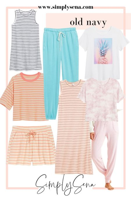Old navy fashion   My recent old navy order   Sweatpants - loungewear - summer outfit - travel outfit  Old navy Travel Beach Wear Travel Style  #LTKunder50 #LTKstyletip #LTKsalealert