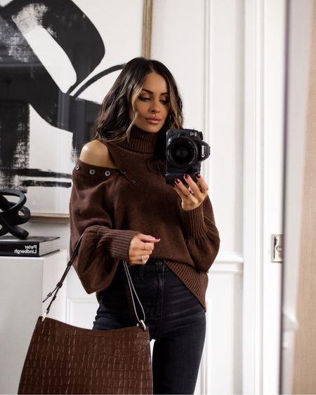 Fall outfit ideas  Rent The Runway Marissa Webb sweater    #LTKSeasonal #LTKstyletip #LTKitbag