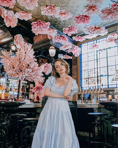 Oscar Wilde NYC // wearing En Saison blue maxi dress: http://liketk.it/3f8IN #liketkit @liketoknow.it