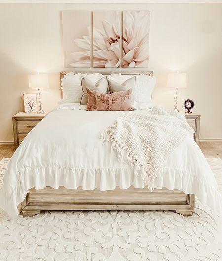 Soft and feminine 💗  #makeover #bedroomrefresh #roommakeover #soft #cozy #feminine #pink #interiorstyling #homedecor #designinspiration #roominspiration #interiors #interiordesign #interiorinspo #interiordecorating #interiorstyle #shannanbowerstyle   #StayHomeWithLTK #LTKstyletip #LTKhome