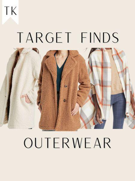 Target / Fall Fashion / Target Style / Fall style / target clothes / Sherpa cost / cream coat / plaid / plaid kimono / fall vibe   #LTKunder100 #LTKunder50 #LTKSeasonal