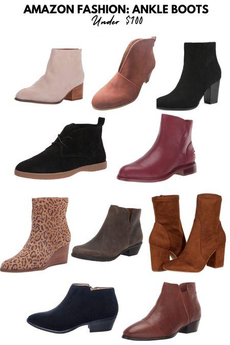 Amazon Fashion: Womens Ankle Boots Under $100  suede, booties, wedge, fall, leopard, leather, #FoundItOnAmazon   #LTKshoecrush #LTKunder100 #LTKunder50