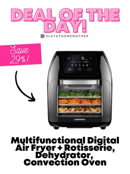 Multifunctional Air fryer, dehydrator, convection oven now only $100   Walmart home, target home, cleaning, clean home, dream home, under 50, daily deals, 5 stars, amazon finds, amazon deals, daily deals, deal of the day, dotd, bohemian, farmhouse decor, farmhouse, living room, master bedroom, home decor, kitchen decor   💕Follow for more daily deals, home decor, and style inspiration 💕  #LTKhome #LTKunder100 #LTKsalealert