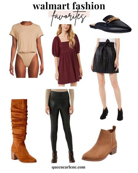 New fall fashion at walmart!   Walmart fashion, Walmart finds, fall fashion, fall style, leather skirt, fall dress, fall shoes, Walmart shoes, fall boots 🖤  #LTKshoecrush #LTKSeasonal #LTKunder50