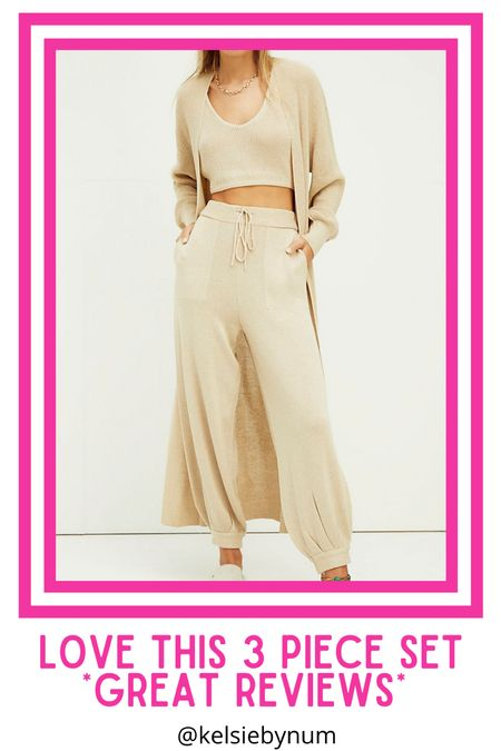 3 piece Free People set! Ordered the XS.. Living in this sweater set