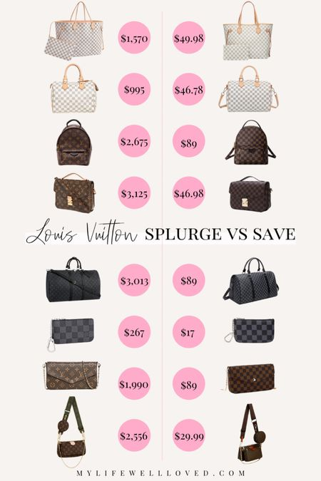 Louis Vuitton dupes // cute & afforable lookalike Louis Vuitton bags! Use code HEATHER40 for 40% off on Goodnight Macaroon site! http://liketk.it/3eh4A #liketkit @liketoknow.it