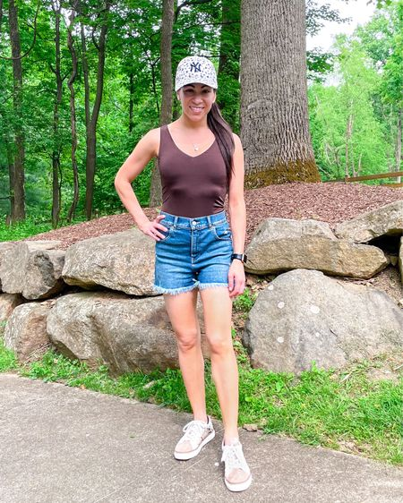 Another favorite summer outfit of mine lately - the mom shorts and bodysuit are both on sale for LTK day!   #LTKDay #LTKunder50 #LTKSeasonal