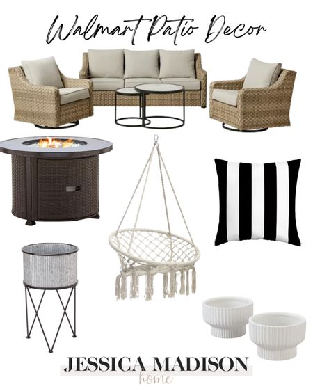 Love these @walmart finds for the back patio! Our most loved outdoor furniture is back in stock!! #walmarthome #sponsored