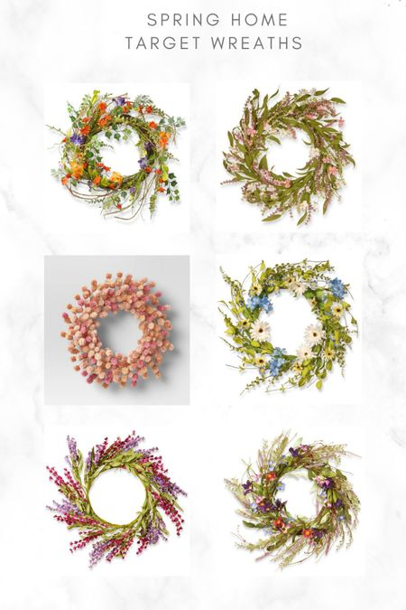 Spring wreaths #target #home #spring #liketkit @liketoknow.it http://liketk.it/3bbFi #LTKSpringSale #LTKhome