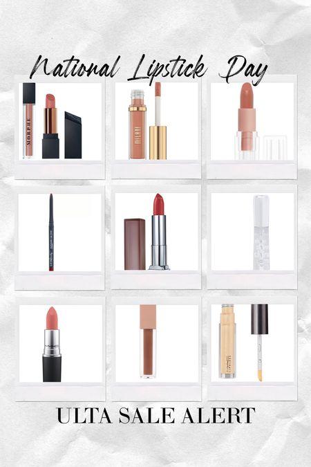National lipstick day + ulta lipstick sale + lipgloss   #LTKstyletip #LTKsalealert #LTKbeauty