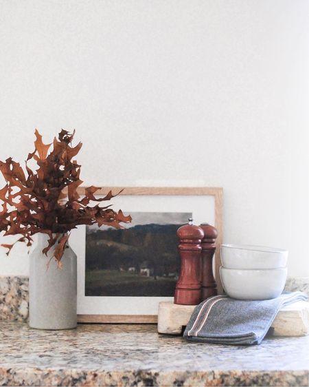 The Fall Edit   Kitchen decor   shelf decor   fall decor   printable art   fall foliage   stoneware bowls   stoneware kitchen   hearth and hand   vintage riser  #LTKstyletip #LTKhome #LTKfamily