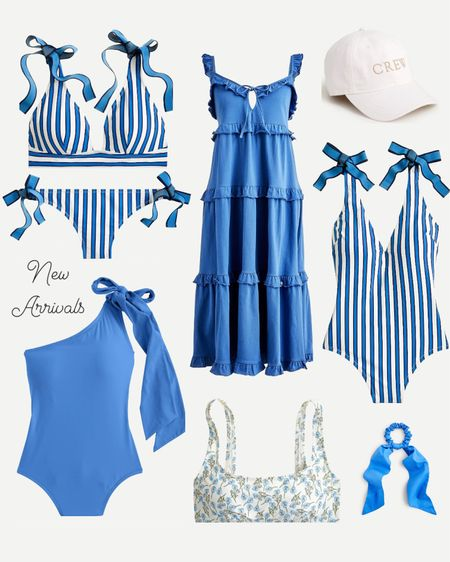 New arrivals! The blue bow one piece is 20% off right now 💙 SCROLL DOWN TO SHOP 💙   swimsuits, beach vacation outfits, bow bikini, striped Bikini, blue and white outfit, blue ruffle dress, white and gold baseball hat, blue swimsuit, grandmillennial, adidas, French blue, summer outfit, pool outfit, travel 4th of July outfit  http://liketk.it/3hV4z #liketkit @liketoknow.it #LTKsalealert #LTKunder50 #LTKstyletip