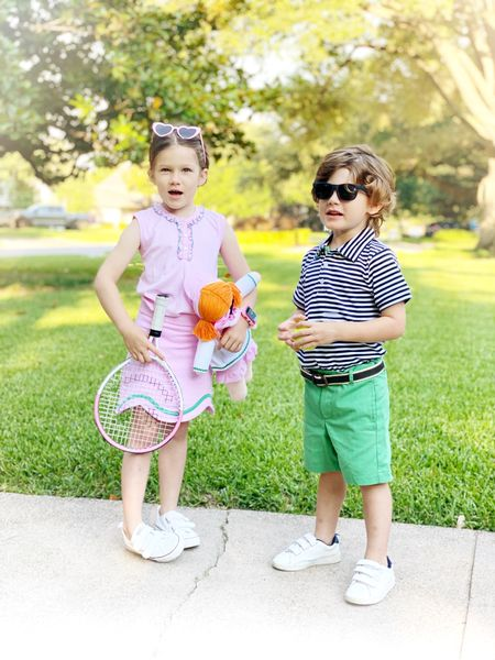 Day three of tennis camp, I think the kids enjoy the outfits as much as playing! Linking their exact outfits below.   #LTKfit #LTKunder100 #LTKkids