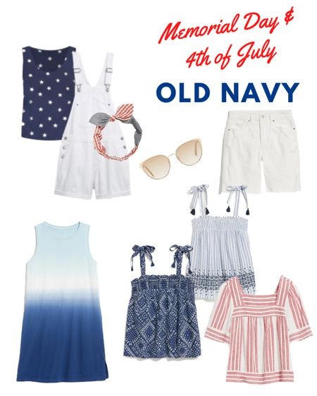 Cute outfit inspiration for Memorial Day or the 4th of July from Old Navy.  #memorialdaysale #patriotic #oldnavy  #LTKDay #LTKstyletip #LTKsalealert