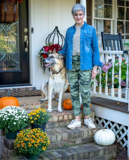 Fridays with Oscar gets a fall update. Not only do my outfits get a seasonal update but my front porch too! Join us on today for Irish Coffee, healthy spinach banana muffins, and the cutest outfit from Target!  #LTKunder50 #LTKSeasonal