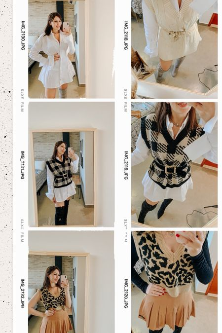 Knit vest season, finally! 🤎 All of them are from SHEIN. @liketoknow.it http://liketk.it/3bu0j #liketkit @liketoknow.it.brasil   #StayHomeWithLTK #LTKstyletip