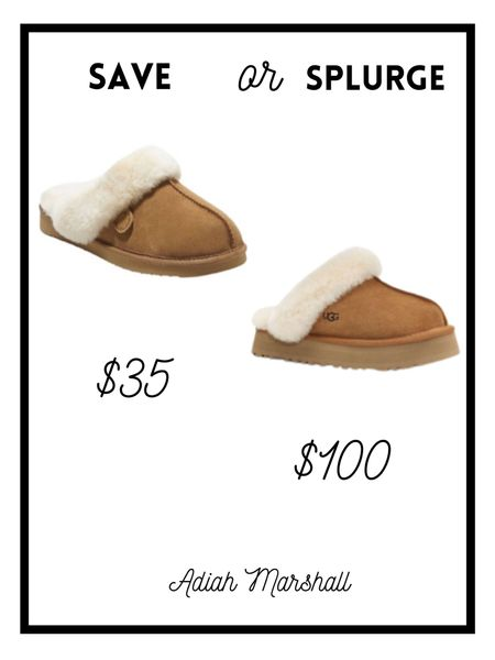 Save or Splurge Just purchased the Shearling Scuff Slipper and they are so comfy!!   Fits TTS!  Great dupe for the Ugg slippers If in between sizes size up  #LTKHoliday #LTKSeasonal #LTKGiftGuide