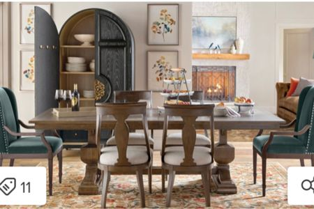 Shop this new fall modern farmhouse dining room with a touch of sophistication.   #LTKSeasonal #LTKhome