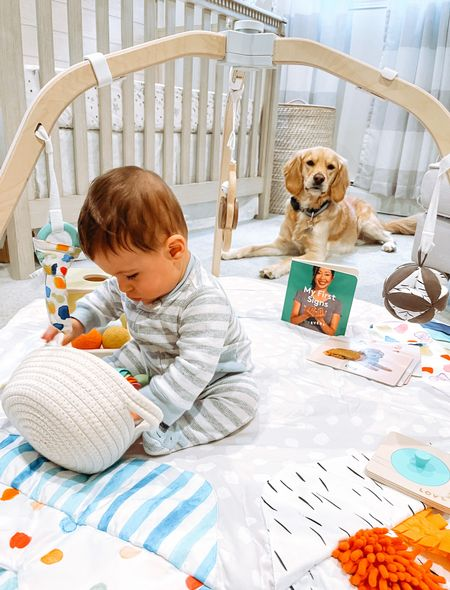 Happiest when it's playtime with @lovevery !  Linking all my favorite baby boy nursery items including Christian's @lovevery play gym and play kit! #loveverygift #lovevery     #LTKhome #LTKfamily #LTKbaby