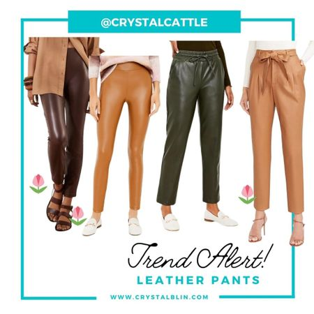 It's popping up everywhere. I love the leather trend, but I love that it's showing up in more colors than black. #hocspring #houseofcolour #fallfashion   #LTKSeasonal #LTKunder50 #LTKunder100