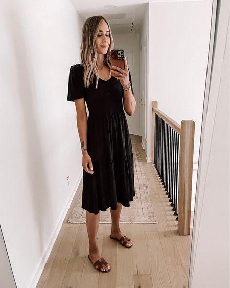 Love this subtle puff sleev tshirt dress for summer! Easy to dress up or down #blackdress #dresses #summerdress #sandals http://liketk.it/3hi7X #liketkit @liketoknow.it #LTKstyletip #LTKunder100 #LTKshoecrush