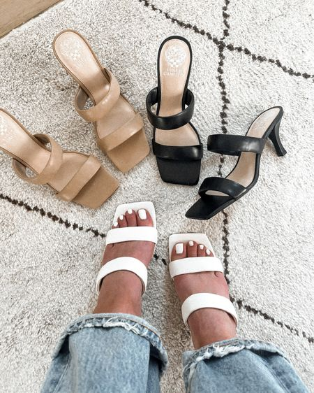 If you can't tell I really love these heeled summer sandals. They look designer but they're under $100! Fit TTS and the lower heel height makes them so comfortable to wear for longer hours. Pair with jeans, summer dresses or skirts for a stylish summer outfit http://liketk.it/3iyV5 #liketkit @liketoknow.it #LTKshoecrush #LTKunder100 #LTKstyletip