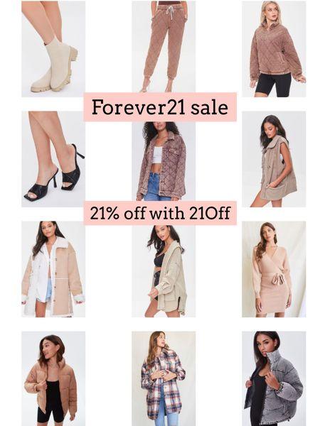 Forever21 sale. Shacket. Quilted jacket   #LTKSeasonal #LTKunder50 #LTKsalealert