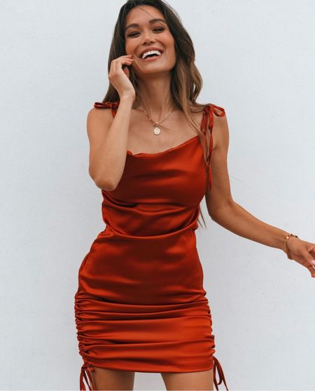 This gorgeous satin dress is only $35! Click here to shop!  #LTKHoliday #LTKstyletip #LTKSale