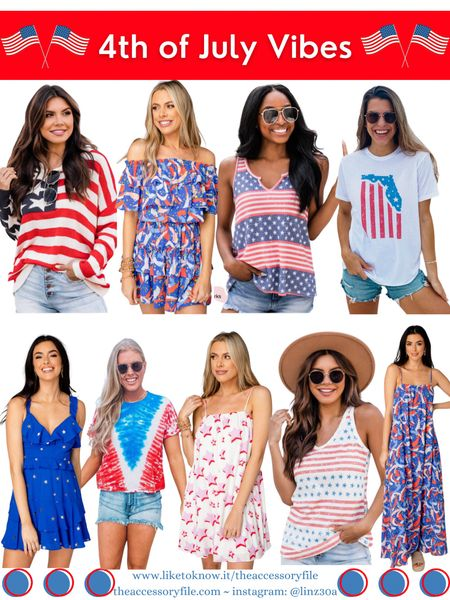 Pink Lily pieces - up to 30% off  Buddy Love - use code FB25 for 25% off   4th of July looks, 4th of July outfits, patriotic outfits, patriotic tees, 30a gear, Stars and Stripes tee, Stars and Stripes tank top, forewords dress, stars dress, mini dress, maxi dress, summer look, summer outfit, vacation outfits, vacation looks, pink lily, buddylove, Buddy love    http://liketk.it/3i0VE  #liketkit @liketoknow.it #LTKstyletip #LTKsalealert #LTKtravel #LTKseasonal #LTKsummer #LTKholiday