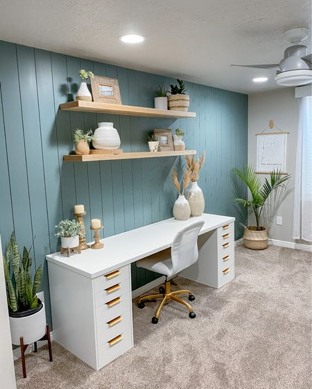 Modern Office Space Set Up (gold handles are the cutest add on!) - get your office ready for spring!  http://liketk.it/3g1KO #LTKhome #LTKunder100 #LTKstyletip #liketkit @liketoknow.it @liketoknow.it.home #ltkseasonal #competition