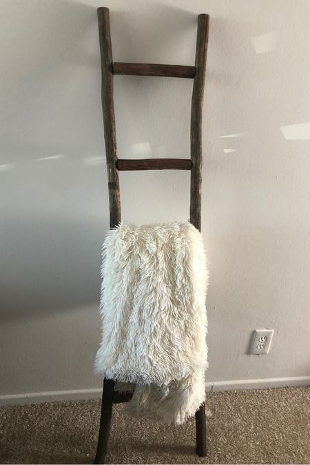 Finally found an affordable blanket ladder. Also linked our fuzzy winter blanket. http://liketk.it/31lnS #liketkit @liketoknow.it #StayHomeWithLTK #LTKunder100 #LTKunder50