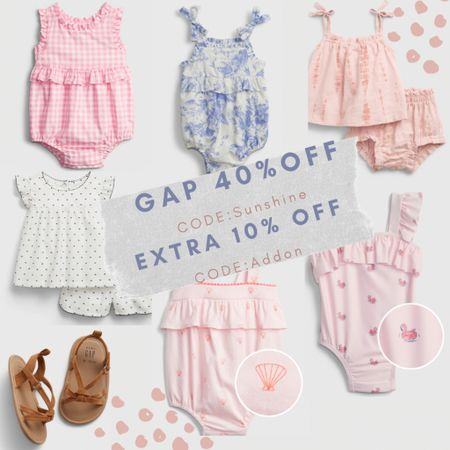 Gap 40% off + extra 10% off ends today ‼️Baby girl outfits // baby girl clothing // kids clothing /: Memorial Day sales // summer outfits // sandals // beach outfit  #LTKsalealert #LTKbaby #LTKkids