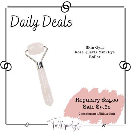 Skin Gym Rose Quartz Mini Eye Roller  http://liketk.it/3igEH #liketkit @liketoknow.it #LTKsalealert #LTKbeauty #LTKunder50