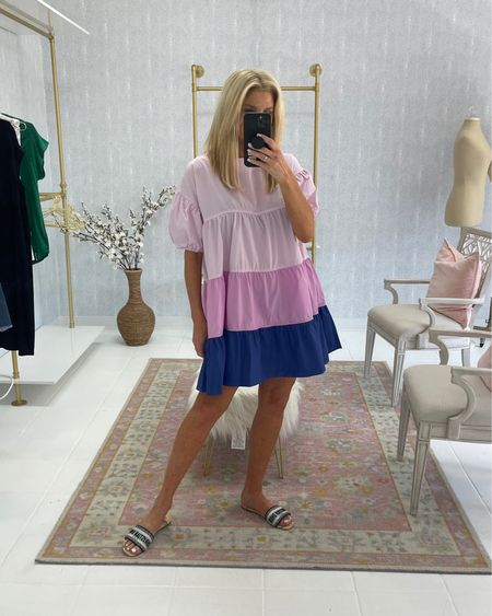 Colorblock dress - wearing size M Linking several shoes that would pair well with this look   http://liketk.it/3hWZc #liketkit @liketoknow.it #LTKshoecrush #LTKstyletip #LTKunder50