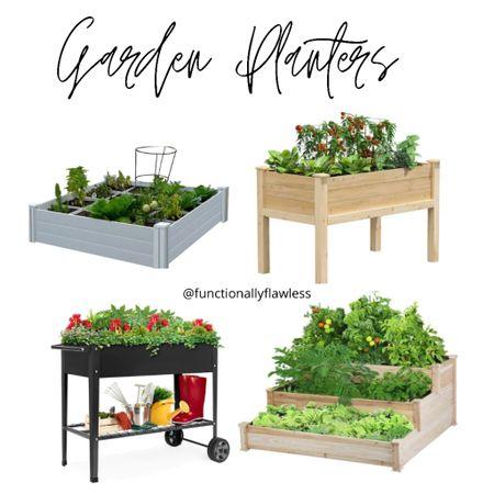 Garden planters, raised planters, elevated planter, 3 tiered planter.