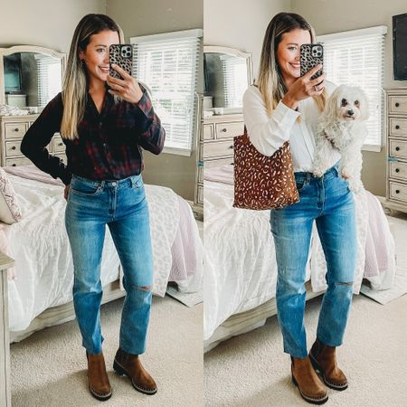 Team lumberjack or team vanderpump?? 🤣🤣🤣 I love these mom jeans tho!!!   #LTKunder50 #LTKstyletip