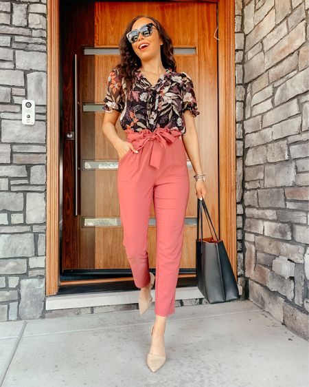 Just shared a new video on my Instagram feat my FAVORITE summer work wear finds! I mixed and matched all my favorite pieces to wear them multiple ways this summer! ☀️ Sizing info below:  Pink paper bag pants : XS  Floral Top : XS but could size up 1  White Eyelet Top: XS but could size up 1  Black Pencil Skirt : XS  Body Contour Top: Small  White Pants: size 0  Linen Blazer : XS (runs a little oversized)   Screenshot this pic to get shoppable product details with the @liketoknow.it shopping app: http://liketk.it/3gYPK #liketkit #LTKworkwear #LTKstyletip #LTKunder100