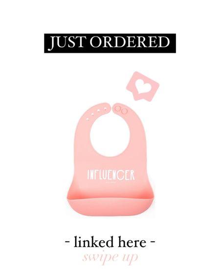 """Influenced"" silicon bib for baby girl    http://liketk.it/3gkFs #liketkit @liketoknow.it #LTKbaby #LTKhome"