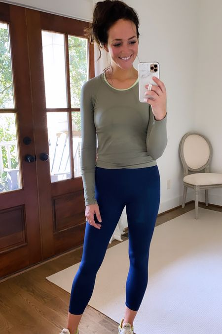 Great free assembly leggings from Walmart and lulu lemon workout top - wearing a small in both   #LTKunder100 #LTKfit #LTKunder50