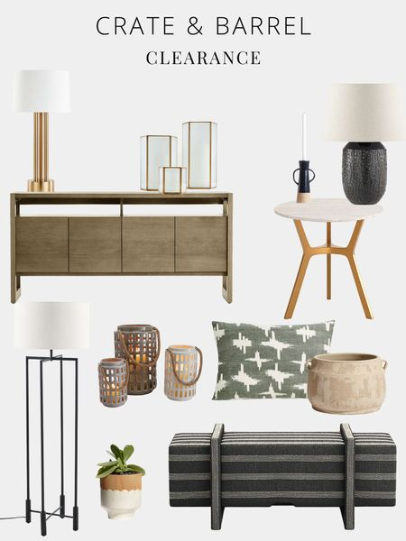 Crate and Barrel, console table, bench, lamp, planter, pillow, vase    #LTKhome #LTKGiftGuide #LTKfamily