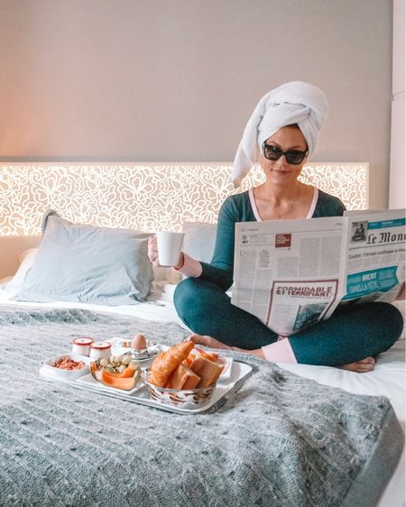 coziest monogrammed 'jams for breakfast in bed! (paJAMas, not jelly....although I had some of that, too) 🥐☕️ can every Monday start like this? @shopilovejewelry  . .  Shop your screenshot of this pic with the LIKEtoKNOW.it app @liketoknow.it #liketkit #LTKeurope #LTKtravel http://liketk.it/2Bk3u