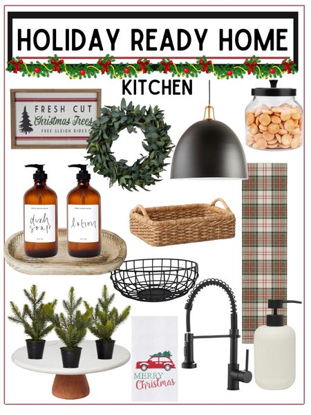 Kitchen refresh - get your kitchen holiday ready!            Holiday decor , kitchen decor , home decor , kitchen finds , wreath , amazon home decor , target home decor , amazon finds , target finds , target style , target Christmas , ruggable , kitchen runner , pantry organization , pantry containers, soap dispensers #ltkunder100 #ltkunder50 #ltkstyletip , home furnishings  #LTKHoliday #LTKhome #LTKSeasonal