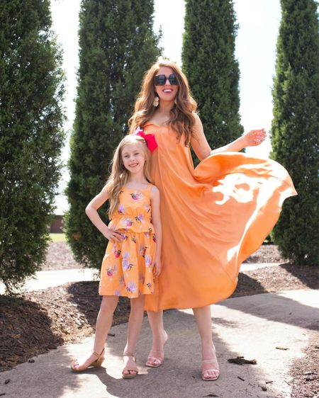 orange mommy and me // wedding guest dresses http://liketk.it/3h34t #liketkit @liketoknow.it  #LTKunder50 #LTKunder100 #LTKfamily