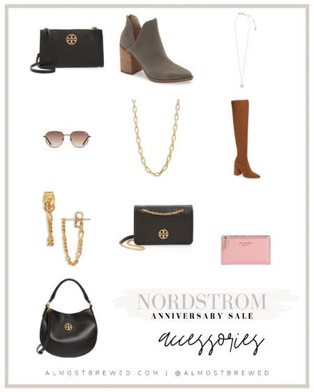 NORDSTROM ANNIVERSARY SALE Tory Burch, Purse, Crossbody, necklace, gold chain, earrings, wristlet, wallet, Kate spade, fall booties, ankle boots, over the knee boots. OTK boots. Quay sunglasses  #LTKsalealert #LTKitbag #LTKbeauty