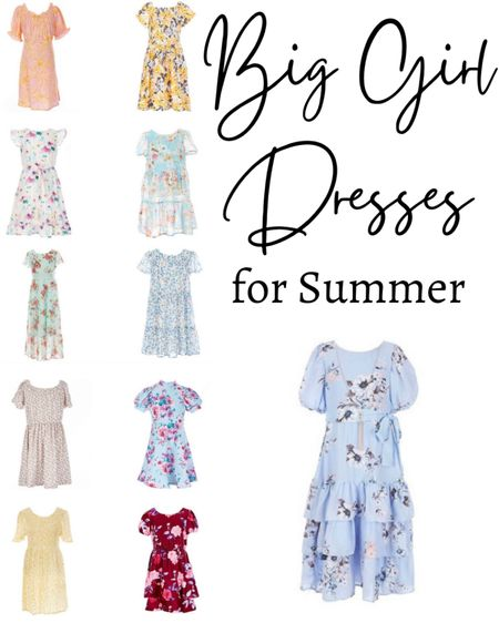 Big girl floral dresses for summer! http://liketk.it/3hSrP #liketkit @liketoknow.it #LTKunder50 #LTKkids #LTKstyletip